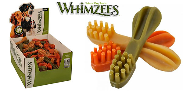 Chollo Pack de 75 snacks Whimzees para perros medianos