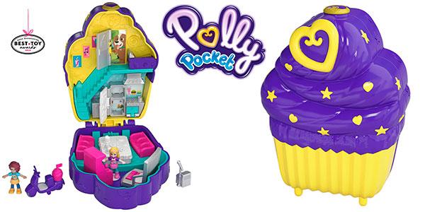 Chollo Cofre Cupcake Sorpresa de Polly Pocket con 2 minifiguras
