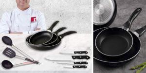 Comprar pack San Ignacio Navy Black de sartenes, cuchillos y utensilios al mejor precio en Amazon