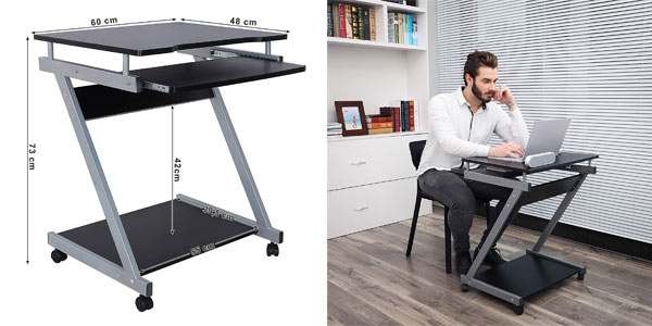 mesa de ordenador compacta Vasagle en oferta en Amazon