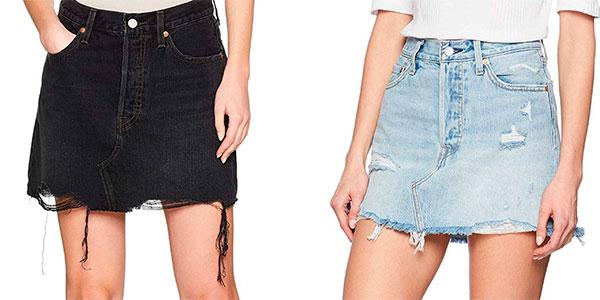 Falda Levi's Deconstructed Skirt para mujer barata