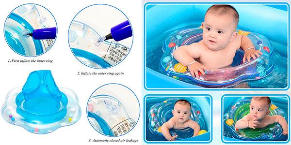 Chollo Flotador para bebé con asiento Kimko