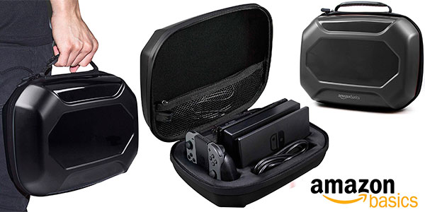 Funda y maleta AmazonBasics de almacenamiento para Switch barata