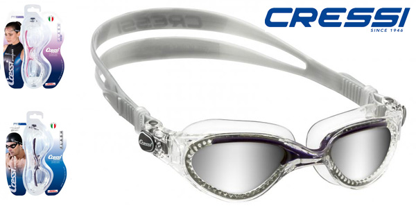 Gafas de natación Premium Cressi Flash Swim Goggles baratas en Amazon