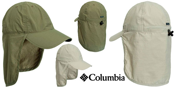 Gorra Columbia Schooner Bank Cachalot con faldón barata
