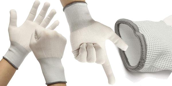 Pack x6 pares de guantes de protección de seguridad de algodón Pigupup baratos en Amazon