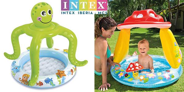 Intex piscinas con parasol hinchables para bebés baratas