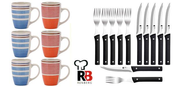 Set de cocina Rengberg de 6 tazas y 12 piezas de cubertería barato en Amazon