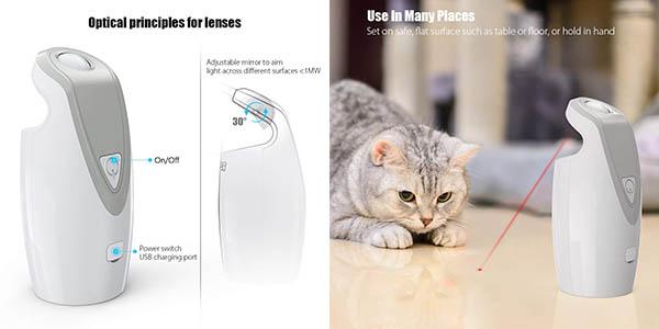 juego Dadypet para gatos y perros con luz láser divertido oferta