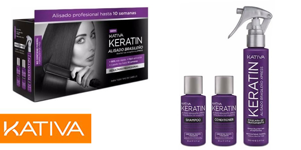 Kit Kativa Keratin Alisado Brasileño Xpress chollo en Amazon