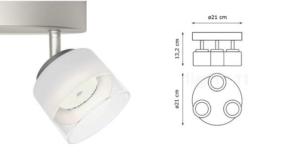 Lámpara interior con tres focos LED Philips myLiving Fremont chollo en Amazon