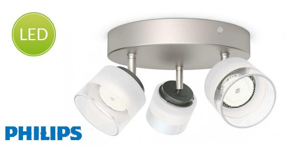 Lámpara interior con tres focos LED Philips myLiving Fremont barata en Amazon