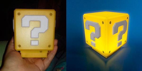 Lámpara de Super Mario Bros con USB barata