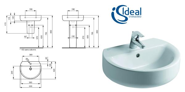Lavabo Ideal Standard E7146 Connect Sphere chollo en Amazon