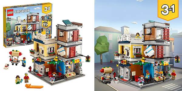 LEGO Creator tienda de mascotas y cafetería chollo