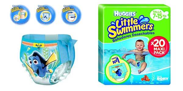 Bañadores desechables Huggies Little Swimmers Talla 4 baratos en Amazon