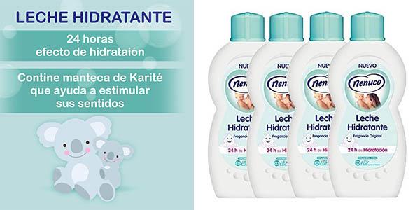 Nenuco leche hidratante para bebés barata