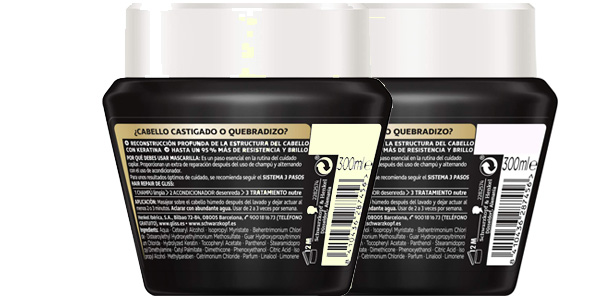 Pack x2 Mascarilla Schwarzkopf Gliss Ultimate Repair Cabellos Muy Dañados de 300 ml/ud chollo en Amazon