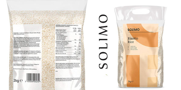 Pack x2 paquetes 2 kg Amazon Solimo Arroz para risotto chollo en Amazon