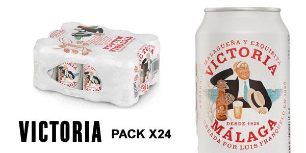 Pack de 24 latas Cerveza Victoria Málaga de 330 ml barato en Amazon
