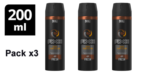 Pack x3 desodorante Axe Dark Temptation XL de 200 ml/ud barato en Amazon
