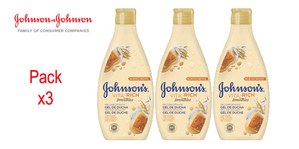 Johnson's - Vita-Rich Gel de Ducha Reconfortante, 3 x 750 ml barato en Amazon