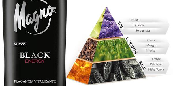 Pack x6 Desodorante Magno Black Energy de 150 ml/ud chollo en Amazon