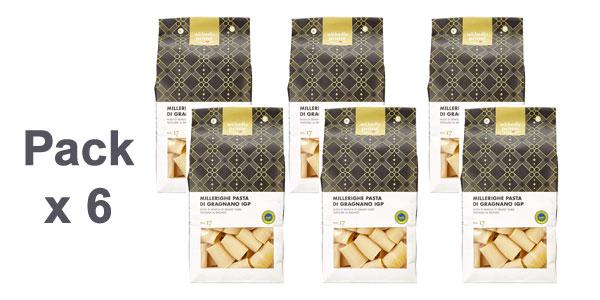 Pack x6 Pasta di Gragnano IGP Millerighe Amazon Wikedly Prime de 500 gr/ud barato en Amazon