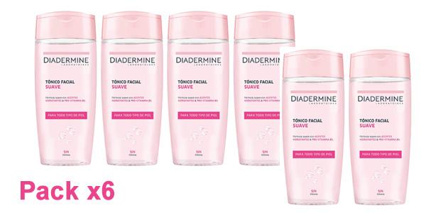 Pack x6 Diadermine Tónico facial suave de 200 ml barato en Amazon