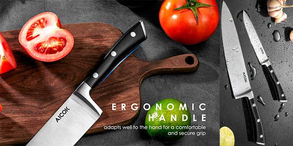 Pack Aicok de 2 cuchillos de cocinero (210 mm y 130 mm) barato