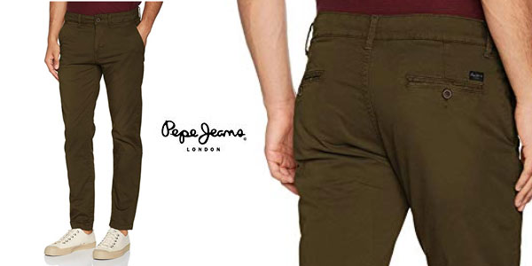 Pantalones chinos Pepe Jeans Sloane baratos en Amazon