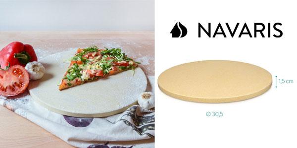 Piedra para pizza de cordierita Navaris chollo en Amazon