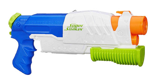pistola de agua Nerf Supersoaker Scatter Blast oferta