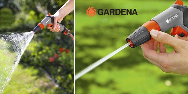 Pistola de limpieza multichorro Gardena 18301-20 gris chollo en Amazon