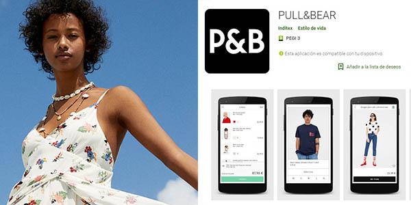 Pull & Bear descuento en ropa en compras en la aplicación móvil