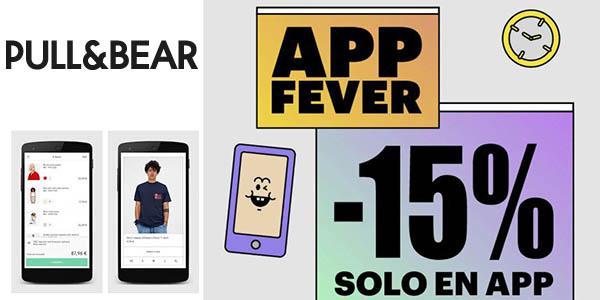 Pull & Bear promoción aplicación móvil en ropa