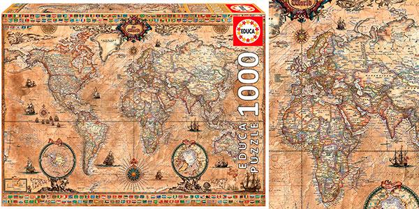Puzle Mapamundi Educa Borrás de 1.000 piezas barato