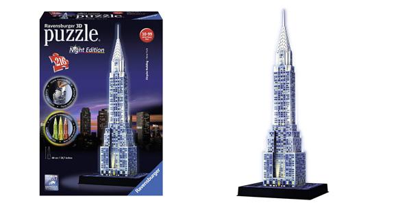 Puzzle 3D Ravensburger Chrysler Building edición Nocturna barato en Amazon