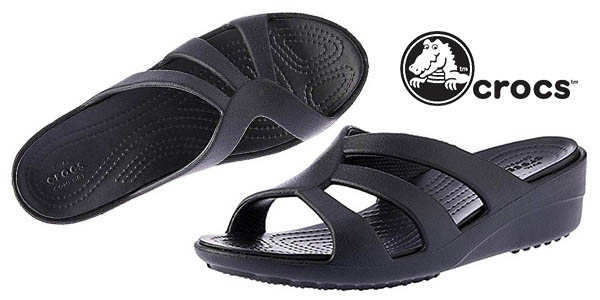 sandalias Crocs Sanrah Strappy Wedge baratas