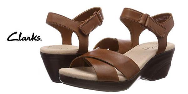 Sandalias con plataforma plana Clarks Lynette Deb para mujer baratas en Amazon