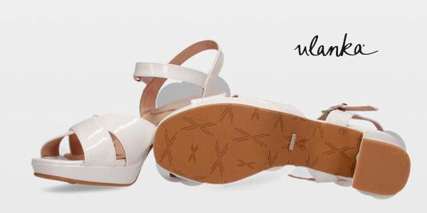 Sandalias de tacón alto Sissei 4604 blancas para mujer chollo en Ulanka