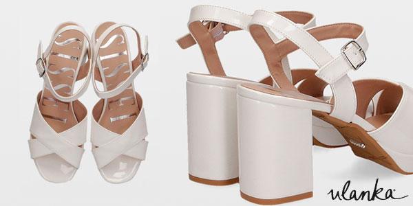 Sandalias de tacón alto Sissei 4604 blancas para mujer chollazo en Ulanka