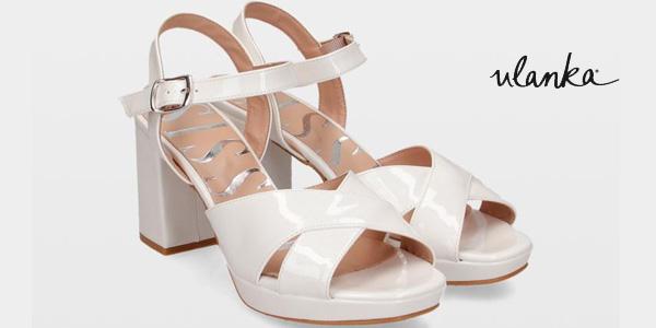 Sandalias de tacón alto Sissei 4604 blancas para mujer baratas en Ulanka