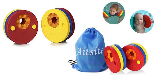 Set x6 Manguitos de Natación para niños en forma de discos de espuma baratos en Amazon
