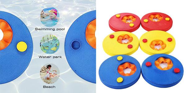 Set x6 Manguitos de Natación para niños en forma de discos de espuma chollazo en Amazon