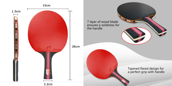 Set Raquetas de ping pong Weeygo chollo en Amazon