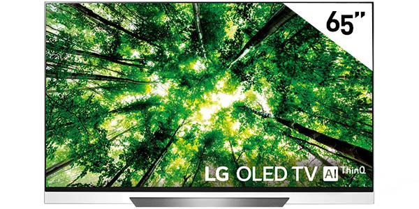 "Smart TV LG OLED65E8 UHD 4K HDR de 65"" con Inteligencia Artificial"