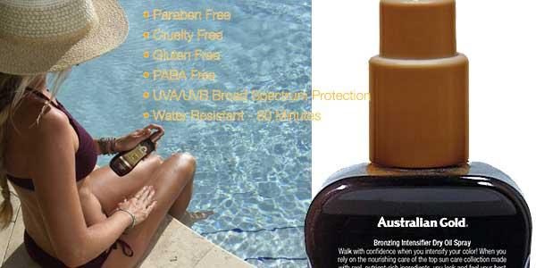 Acelerador del Bronceado Australian Gold Intensifier Dry de 237 ml chollo en Amazon