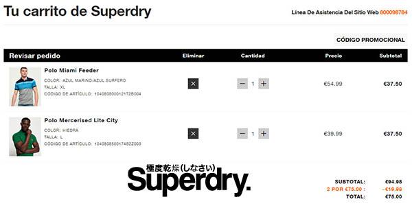 Superdry polos para hombre baratos