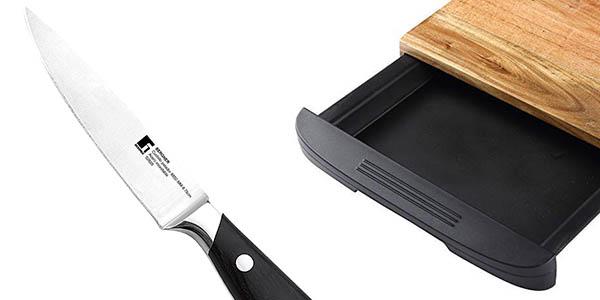 tabla de cuchillos de cocina Bergner relación calidad-precio estupenda